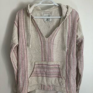 AEO boho striped hooded pull over